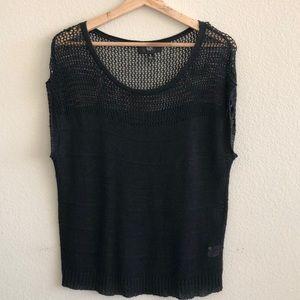 EUC Mossino Black Sweater Top SZ Small